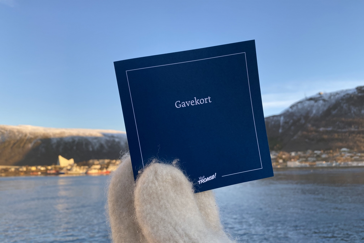 Gift card with Tromsø in the background